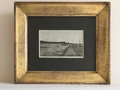 Mid 19thc Beautiful GILT FRAME * with Real Photo? C1912 FERRY at KNOTT END