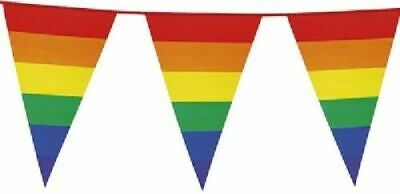 10M Bunting Rainbow Home Pride 20 Flags LGBT 32Ft Parade Flag UK Gay