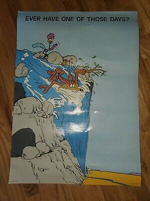 """Vintage Hallmark 20"""" X 28"""" Looney Tunes Road Runner Wile E. Coyote Poster"""