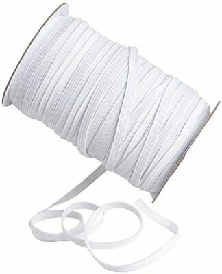 6Mm White Stretch Flat Elastic Waist Band Bands Woven Sewing Trouser Dressmaking