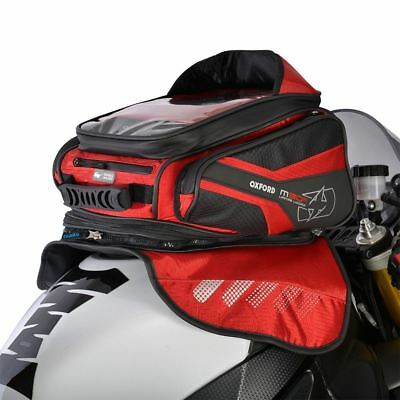 Oxford Motorcycle Bike Luggage Tank Bags Convertible Into Backpack 30-L Red