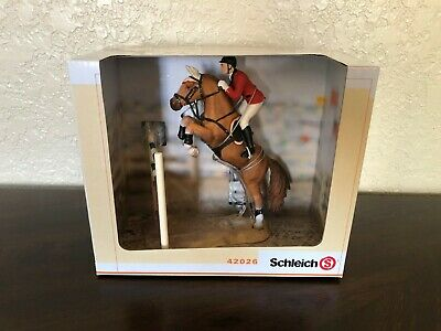 SCHLEICH Horse Show Jumping Set With Rider 42026 Retired RARE Brand New In Box