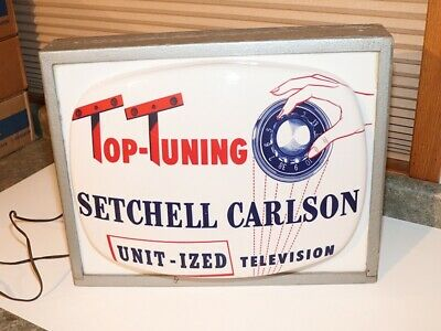 Vintage Setchell Carlson TV Lighted Sign