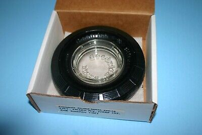 Vntg Tire Ashtray Goodrich Silvertown Embossed Glass Insert Advertis.promo W/Box