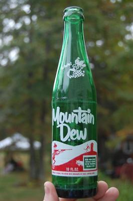 #4 Vintage 60S Mountain Dew Hillbilly Pig Soda Bottle  It'll Tickle Yore Innards