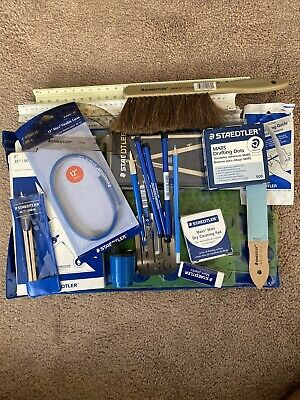 Staedtler Drafting Set with pouch Design Architecture Drafting Tools New/Used