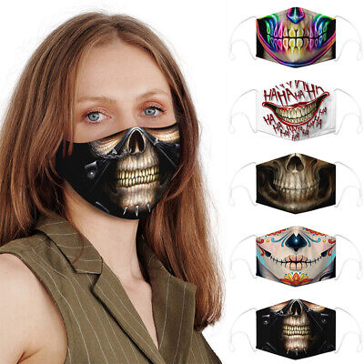 Funny Reusable Facemask Half Face Mouth Mark HipHop Cospaly Party One Size Mask