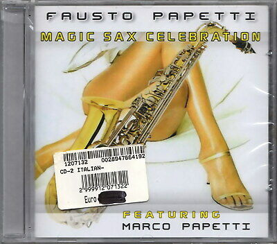 FAUSTO PAPETTI Featuring Marco Papetti  Magic Sax Celebration (2009) 2 CD SEALED