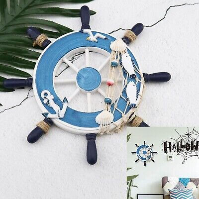 Ship Steering Wheel Wooden for Ship Beach Home Interior Decoration Style C