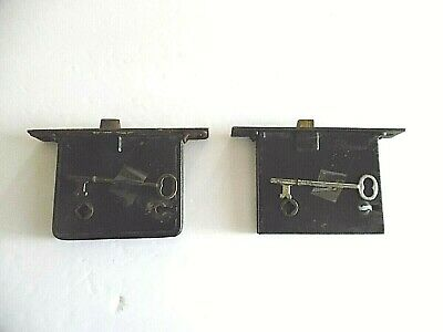Lot Of Two Vintage Antique Door Mortise Locks W/Skeleton Keys - Works