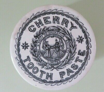 Cherry Tooth Paste Army and Navy Co-operative Society c. 1900-1910 and pot