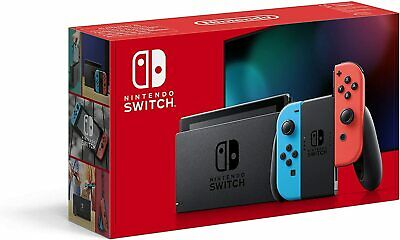 Nintendo Switch Console V2 1.1 Neon Blue Red 2019 New Model Battery Improved