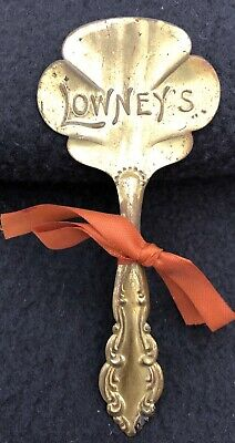 Antique 1900's Advertising Spoon Lowney's Candy Chocolate Massachusetts Ribbon