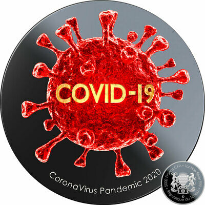 $12 Off Coupon Rep Chad PANDEMIC COVI-19 CORON VIRUS Silver coin 2020 Proof 1 oz