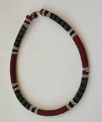 African tribal Fine antique Zulu bead work loop Necklace South Africa