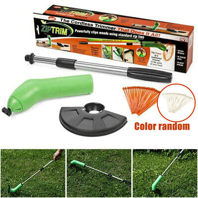 Cordless Grass Trimmer Portable Weed Zip Strimmer Lawn Garden Edger Electric UK