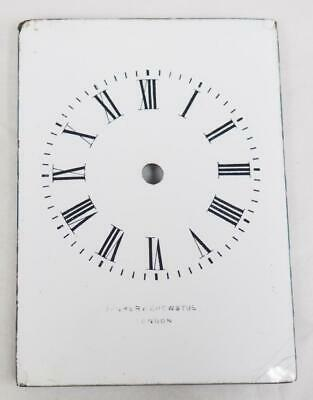 English Enamelled Carriage Clock Dial Clock Spares Clock Dial 8.3cm x 6cm