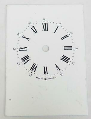 English Enamelled Carriage Clock Dial Clock Spares Clock Dial 8.5cm x 6cm