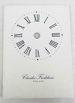 Charles Frodsham Enamelled Carriage Clock Dial Clock Spares Clock Dial 8.5cm x 6