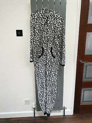 PRIMARK Love to Lounge Leopard Print all in one Sleepwear Jumpsuit Medium