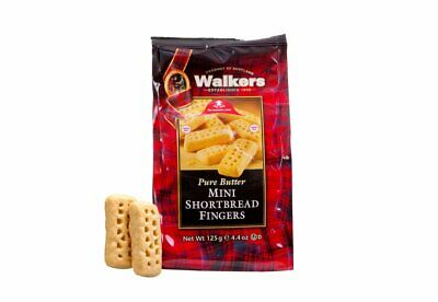 Walkers Pure Butter Shortbread Mini Fingers Bag 125g - Made in Scotland