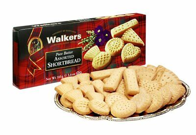 Walkers Pure Butter Assorted Scottish Shortbread 160g - Made in Scotland