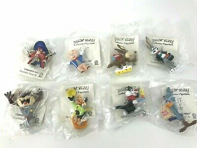 Vintage 1990 Looney Tunes Collector Figurines Complete Set Of 8 Sealed