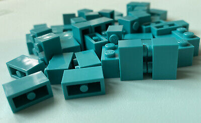LEGO x25 Bright Bluish Green 2x4 Tiles 87079//6223065 dark turquoise teal NEW