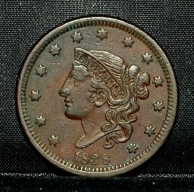 1838 Coronet Head Large Cent ✪ Xf Details ✪ 1C Extra Fine Cleaned L@@K ◢Trusted◣