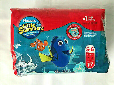 Huggies Little Swimmers Finding Nemo  Swimpants Sizes 5-6 Large 17 Count