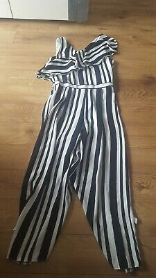 Girls River Island  Black and White Jumpsuit Age 12