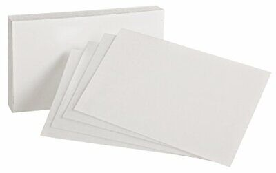 "Oxford Blank Index Cards, 4"" x 6"", White, 100 Per Pack (40156-SP)"
