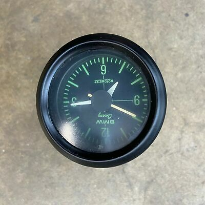 BMW Airhead Green Face Clock Working Nice Condition