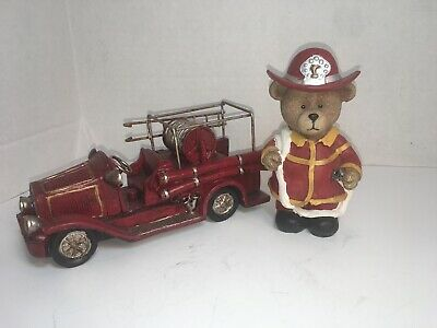 Fire Truck And Bear Set Baby Room