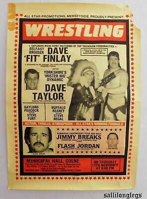 british wrestling posters (SEE PHOTOS)