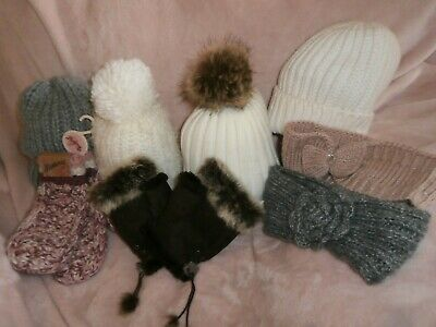 Selection of  ~ Hats ~ Hair-Bands ~ Mittens ~ Gloves ~ 8 items in total ~ New