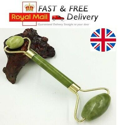 Jade Face Massage Roller Beauty Tool Facial Eye Neck Body Anti-Ageing Therapy UK