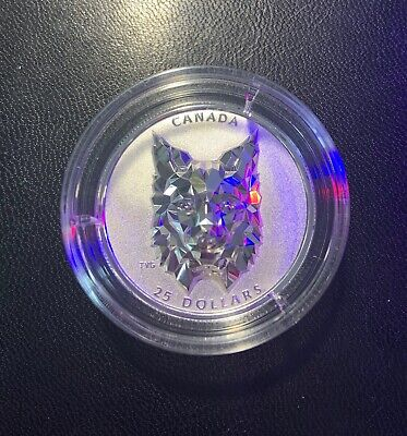 2020 Silver $25 Canadian Multifaceted Lynx - High Relief - Mintage: 2,500!!!