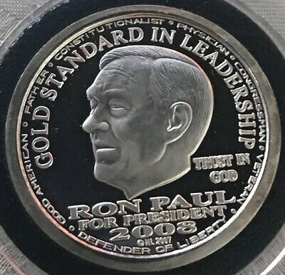 2010 RON PAUL 1//2 troy oz .999 silver Honest government in 2012 white house