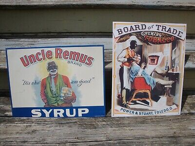 Black Americana Metal Signs Uncle Remus Tobacco Reprod African Deep South Art