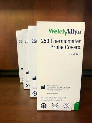 NEW Welch Allyn Thermometer Probe Covers REF #05031 (1000 Ct.)