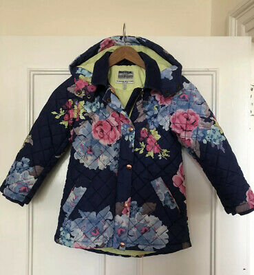 Girls Joules Quilted Hooded Lightweight Coat/Jacket Age 7 Years