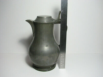 Early 19th century North Eastern French (or low country) Pewter Lidded Water Jug