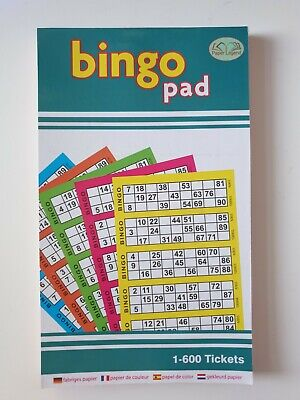 Jumbo Bingo Book Pad 600 Games Coded Tickets 6 to View Various Colours