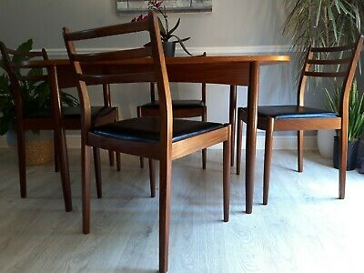 Mid century retro G Plan dining table and 4 chairs