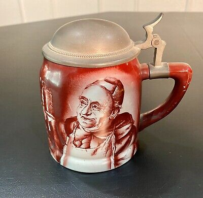 Manning Bowman & Co Monk Stein Meridian, Conn. 1900 Very Good Condition