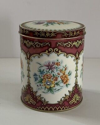 Vintage Tin - The Box Company Daher Made in England Floral 4.5""