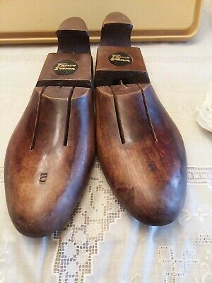 VINTAGE FRENCH SHRINER & URNER VENTED WOODEN SHOE FOOT TREE STRETCHER  size 10
