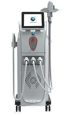 Apollo Gemini 4 in 1 E Light + SHR+RF +ND YAG Tattoo Removal Laser Top Seller