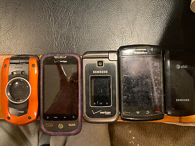 Lot Of Various Cell Phones No Chargers.